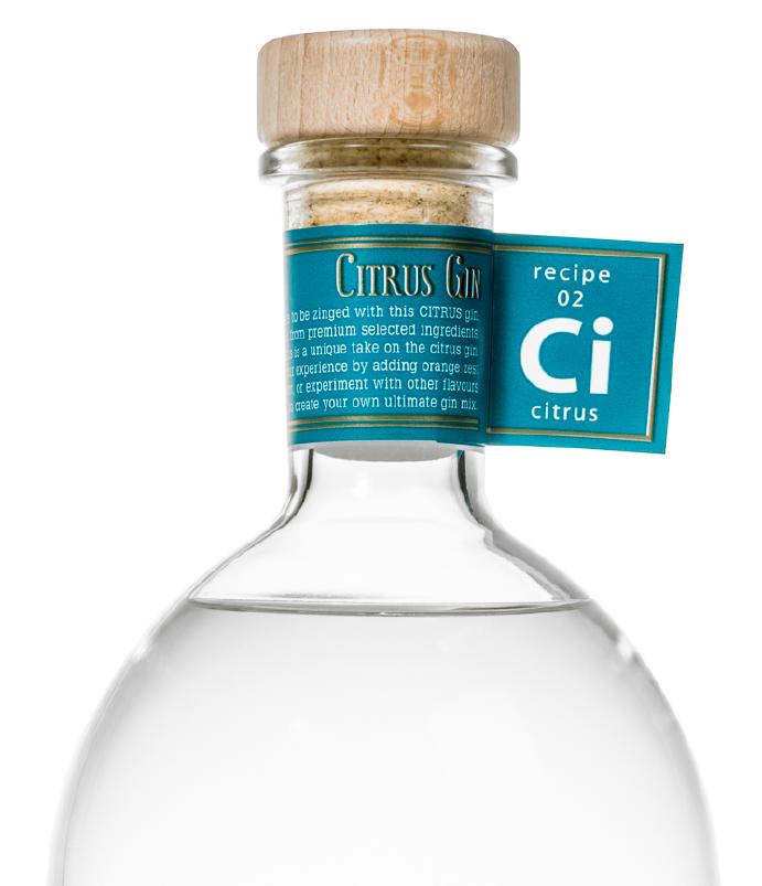 Flasche Gin Citrus
