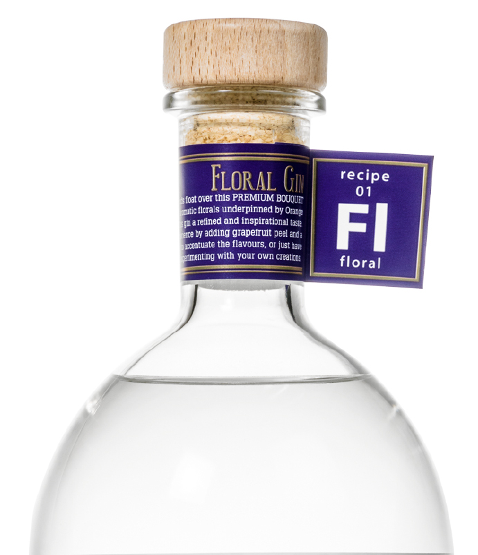 Flasche Gin Floral